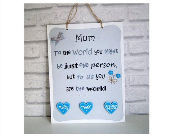 Personalised Mother S Day Gift Hand Painted Plaque Unique Mum