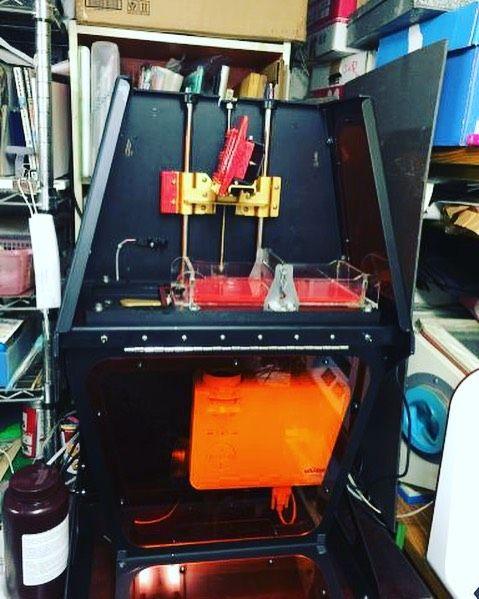 Good #3Dprinter @B9Creator coming!! personal #sla #3Dprinting  低価格光造形3Dプリンター#B9CreatorがデジタルジュエリーR秘密基地にやってきたその実力はいかにhttp://ift.tt/1U2m6iJ #jewelly by tokyomaker