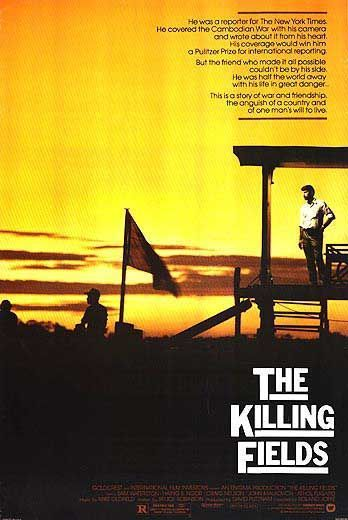 """The Killing Fields (1984).EXCELLENT !  A photographer is trapped in Cambodia during tyrant Pol Pot's bloody """"Year Zero"""" cleansing campaign, which claimed the lives of two million """"undesirable"""" civilians."""