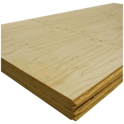 T&G Sheathing Plywood (Scant Face) (Common: 23/32 in. x 4 ft. x 8 ft.; Actual: 0.688 in. x 48 in. x 96 in.)-915394 at The Home Depot