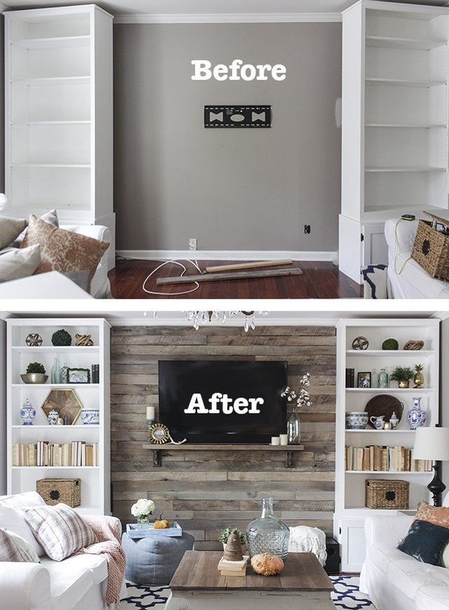 How to Create a Wood Pallet Accent Wall. Wood accent walls have been popular for a long time because of the warmth and texture they add to a room, infusing it with a rustic cabin vibe. Because pallets can be found or obtained for little-to-no cost, they can be an inexpensive option to completely transform the look and feel of a room, in just an afternoon.