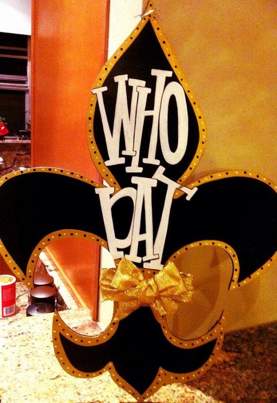 Who Dat Fleur De Lis New Orleans Saints Door By Geauxdesigns 45 00