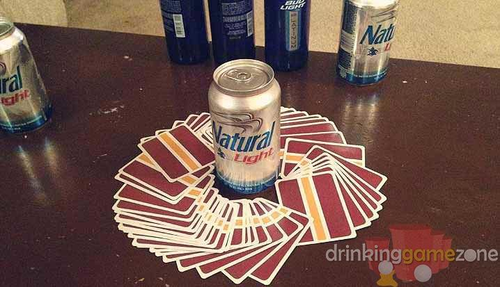 One of the most popular social drinking games in the world, players actions and drinks are associated with the face-down card that they randomly select each turn.