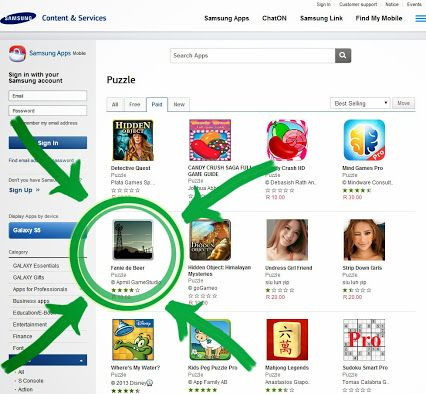 'Fanie de Beer' has reached number 5 on the Samsung Apps 'paid puzzle games' list. :D