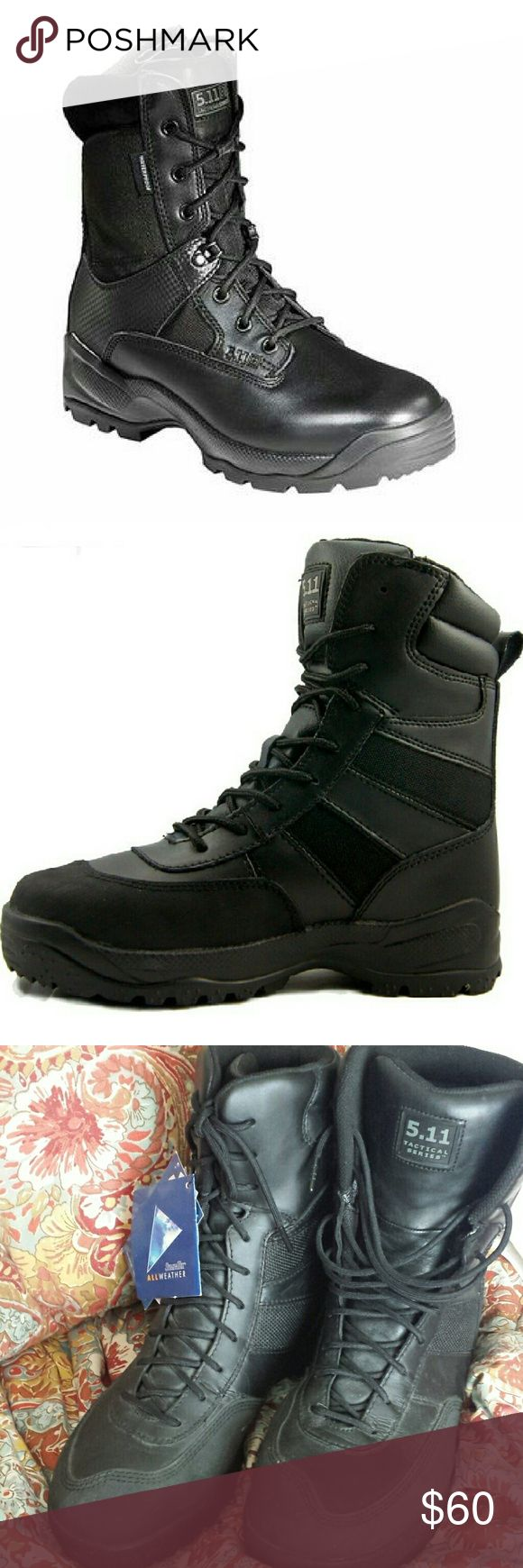Mens Tactical Boots New with tags but a bit dusty from sitting around unused. 511 tactical Sympatex all weather lace up boot in size 11. Other features: AEGIS microbe shield to keep shoe fresh; dri-lex sweat control fibers; Agion environmentally friendly antimicrobial. Shoes Boots