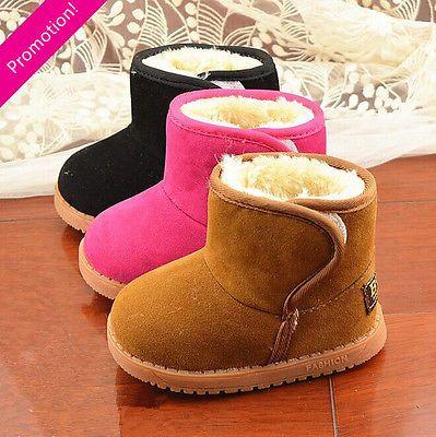 Newborn-Baby-Infant-Toddler-Kids-Girls-Boys-Winter-Thick-Warm-Fur-Snow-Boots-Hot