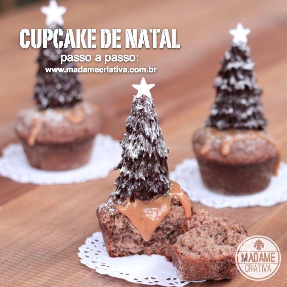 5 melhores ideias de sobremesas decoradas para o Natal - Receita e passo a passo com fotos - Doces natalinos - 5 cutest ideas for Christmas dessert: