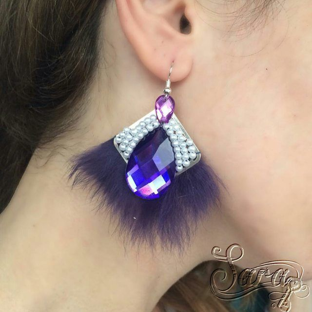 #purple #earrings #dangle #fur #realfur #rhinestone #winter #gift #etsy #handmade #violet #pearls #cute #giftidea #gifrforwife #giftforher #handmadejewelry #etsyshops #etsymntt #cute #amazing #jewelry #jewellery #stopandshop #christmasshopping #bohochic http://ift.tt/1I4gpfV