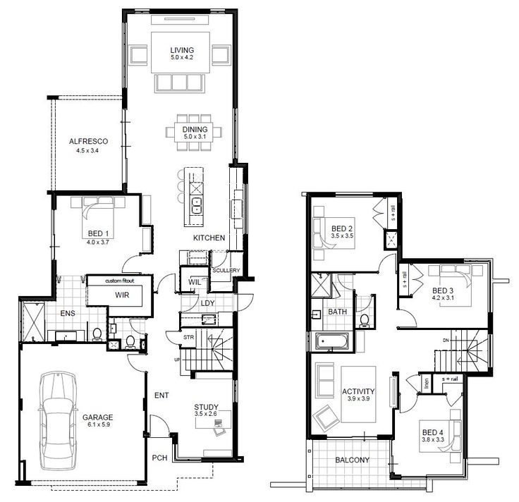 Double Storey Garage With Glass Doors: Best 25+ Two Storey House Plans Ideas On Pinterest