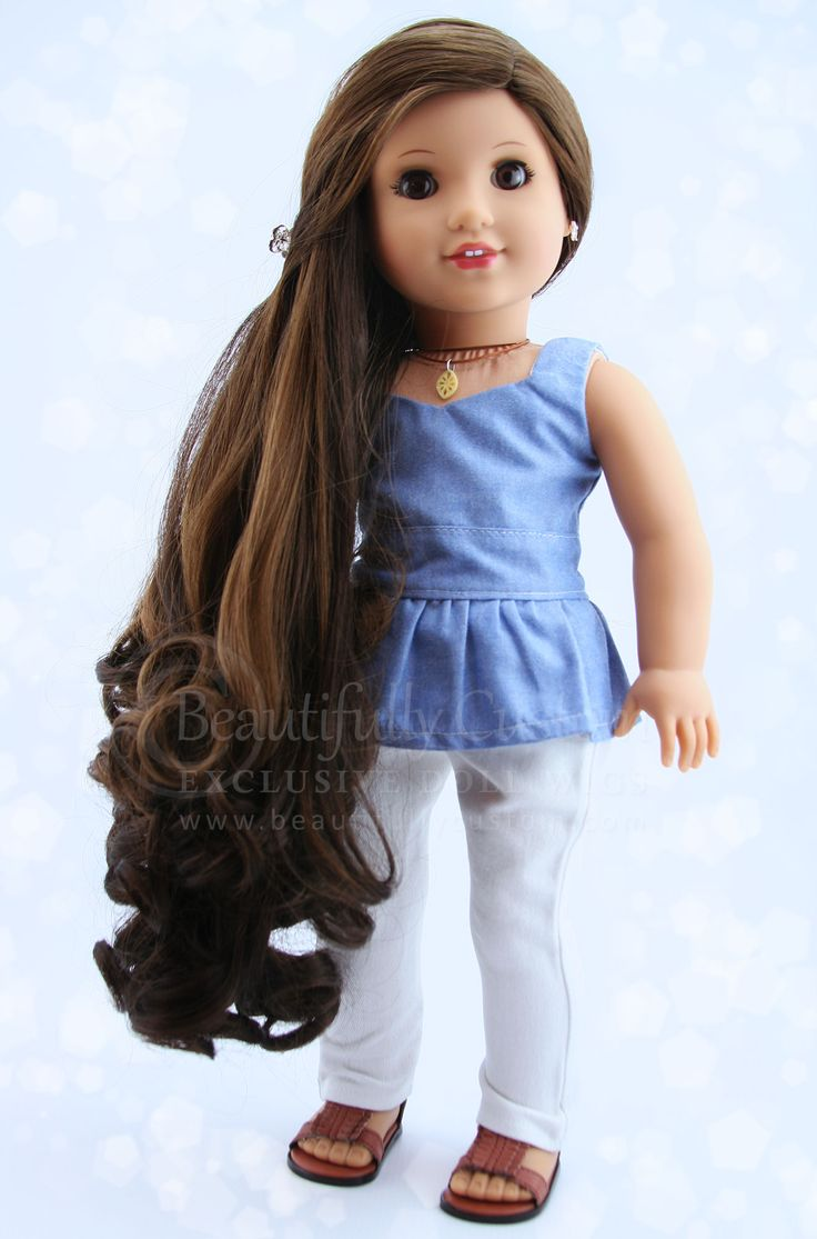 Chocolate Ombre Mermaid Wig (Dark Brown with Highlights