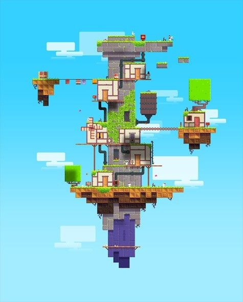 Need to buy this game again My absolute favourite video game, fez See : Indie Game : The Movie Nat