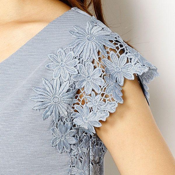 袖レースTシャツ | アルシーヴ(archieves) | ファッション通販 マルイウェブチャネル[TO408-281-86-01]
