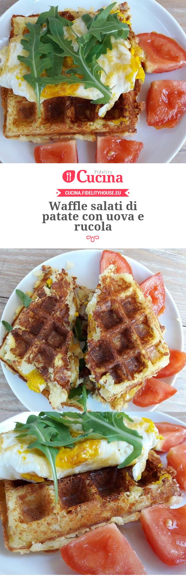 #Waffle salati di #patate con uova e #rucola della nostra utente Vittoria. Unisciti alla nostra Community ed invia le tue ricette!