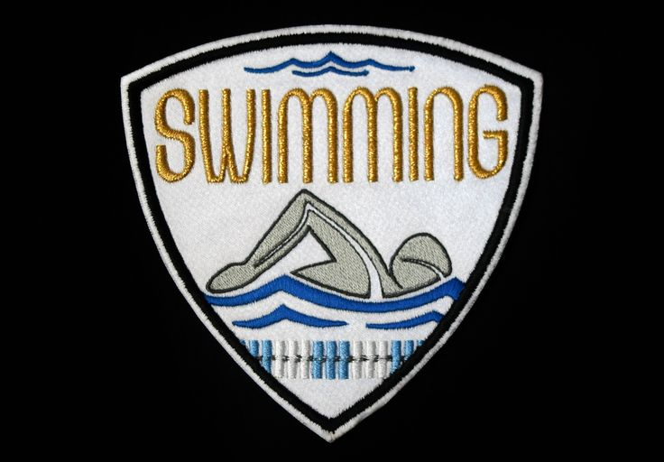Swimming Patch | SportBling Medal Display