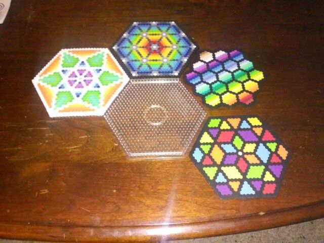 Hexagons with hex pegboard