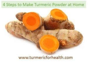 Make turmeric powder at home from fresh root - OR just chop the root into ½ inch sections and freeze them, OR grate the root and freeze it.