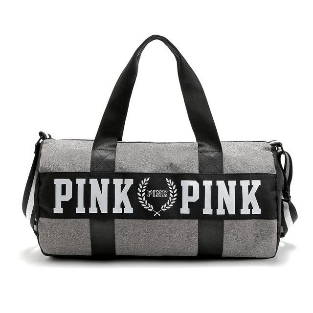 fashion girl Stripe Duffle Bag pink Victoria beach shoulder bag large capacity secret Overnight Weekender bag