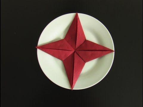 best 25+ servietten falten stern ideas on pinterest - Serviette Falten Weihnachten