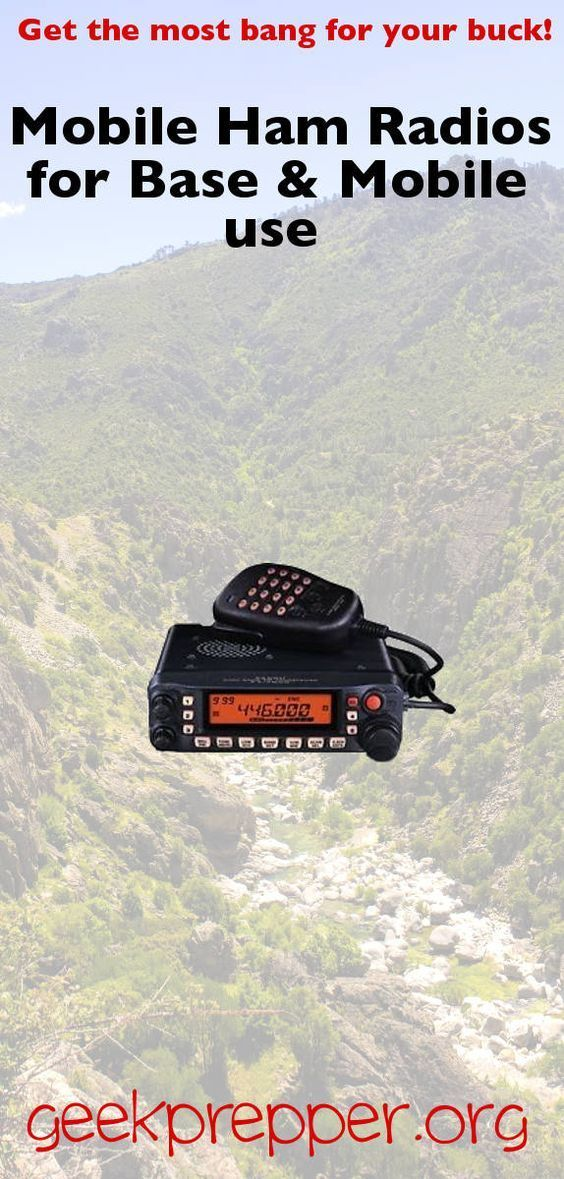 Get the most bang for you buck, by using the same mobile ham radio gear and in your base and your vehicles! geekprepper.org