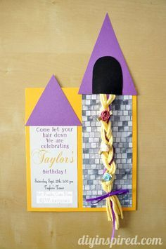 Rapunzel DIY Party Invitation Tutorial