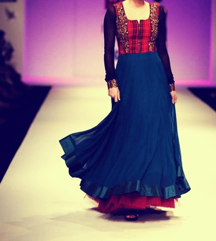 Love the jacket style Anarkali~ Joy Mitra