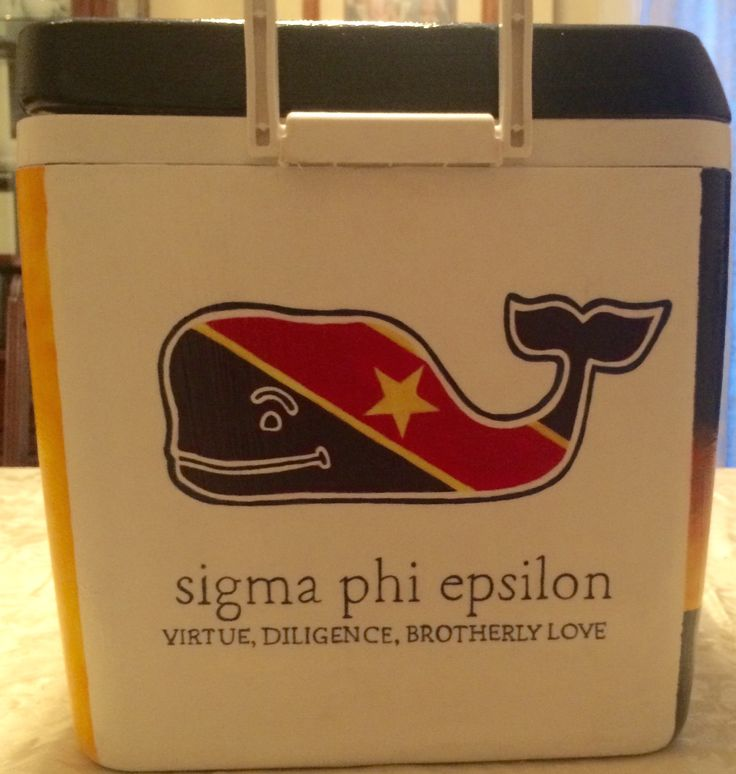 Sigma Phi Epsilon | SigEp Formal Cooler | Virtue Diligence Brotherly Love | Vineyard Vines | Flag