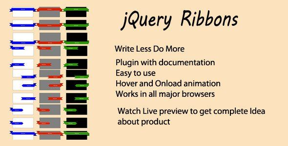 jQuery Ribbon Plugin No need to worry about hassle of