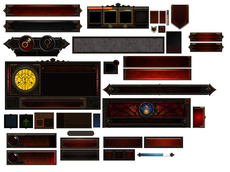 DIABLO III UI by atanichi on deviantART