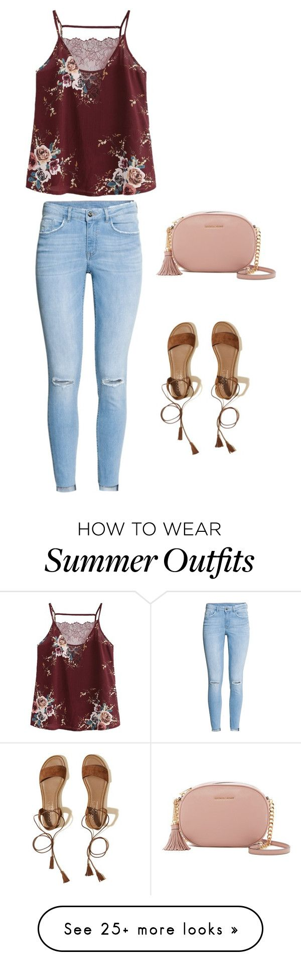 """Outfit"" by ashli-iii on Polyvore featuring H&M, Hollister Co. and MICHAEL Michael Kors"