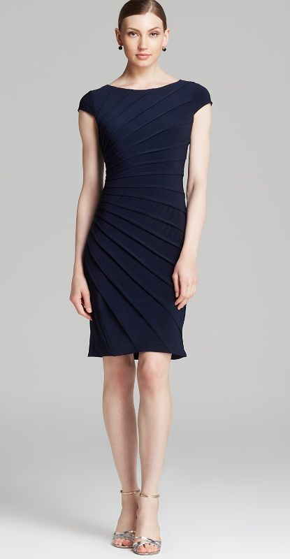 Love this ruched dress - so flattering