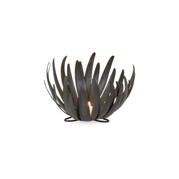 "Bloom Metal Bowl / Candle Holder - Small.  9d x 6h"" #965194 $24.99 www.lambertpaint.com"