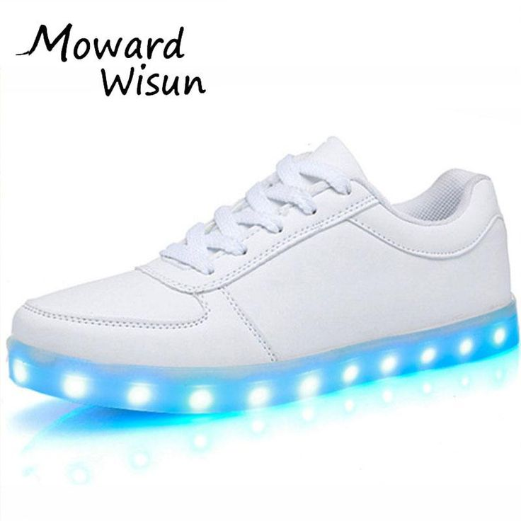 Fashion USB LED Light Up Shoes Glowing Shoes Basket Femme Trainers Feminino Luminous Sneakers with Light Soles LED Slippers 35