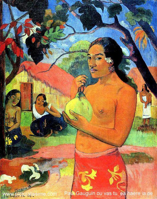 Woman Holding a Fruit; Where Are You Going ? Eu haere ia oe