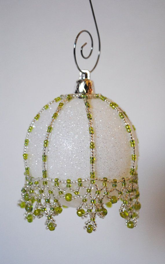 2351 best beaded christmas ornaments images on pinterest for Crystal baubles christmas