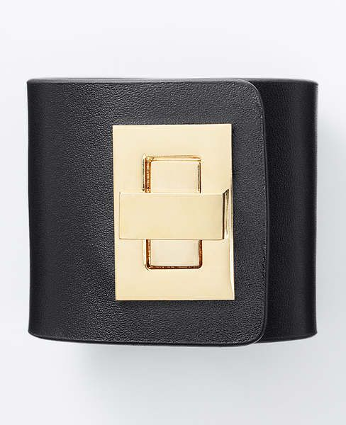 "From our Modern Classic collection. This piece takes timeless to the next level. Expertly crafted in rich leather, this must-have cuff embodies sophisticated edge. Metal turnlock closure. 2 1/4"" width."