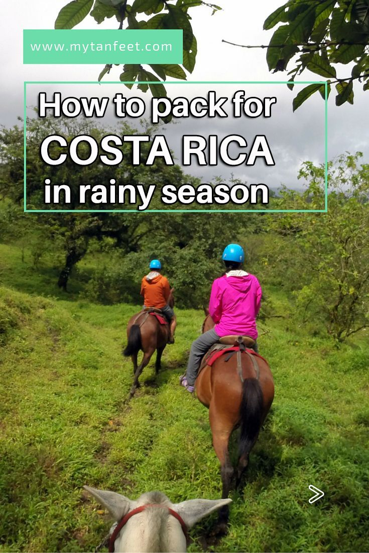 Tips for packing for Costa Rica in the rainy season http://mytanfeet.com/costa-rica-travel-tips/packing-for-rainy-season-in-costa-rica/