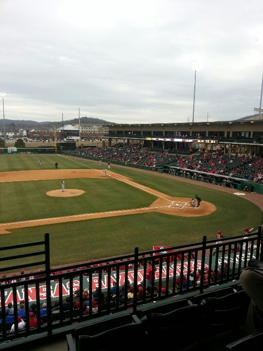 Baseball and Box Seats on a Cold Spring Day.