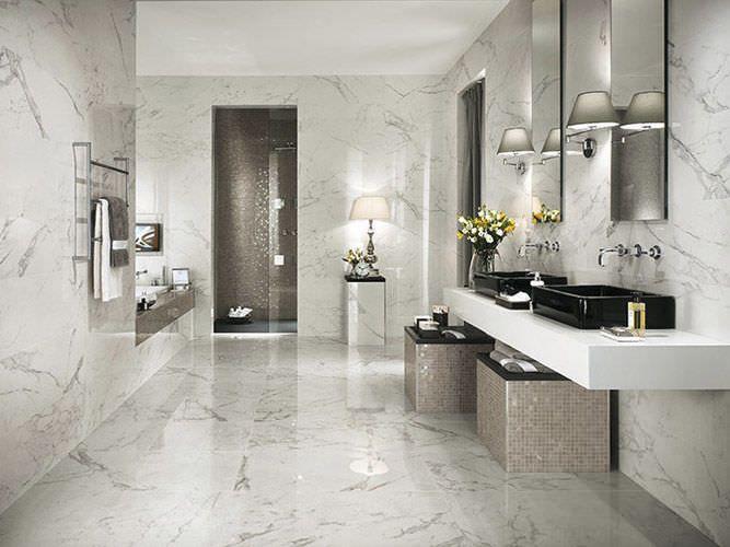 Carrelage de salle de bain mural en c ramique aspect for Atlas salle de bain