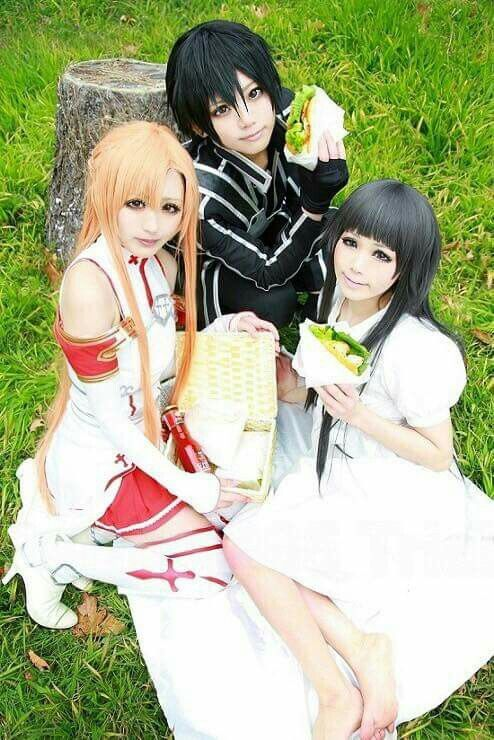 Asuna, Kirito & Yui Cosplay - By Sword Art Online ღ