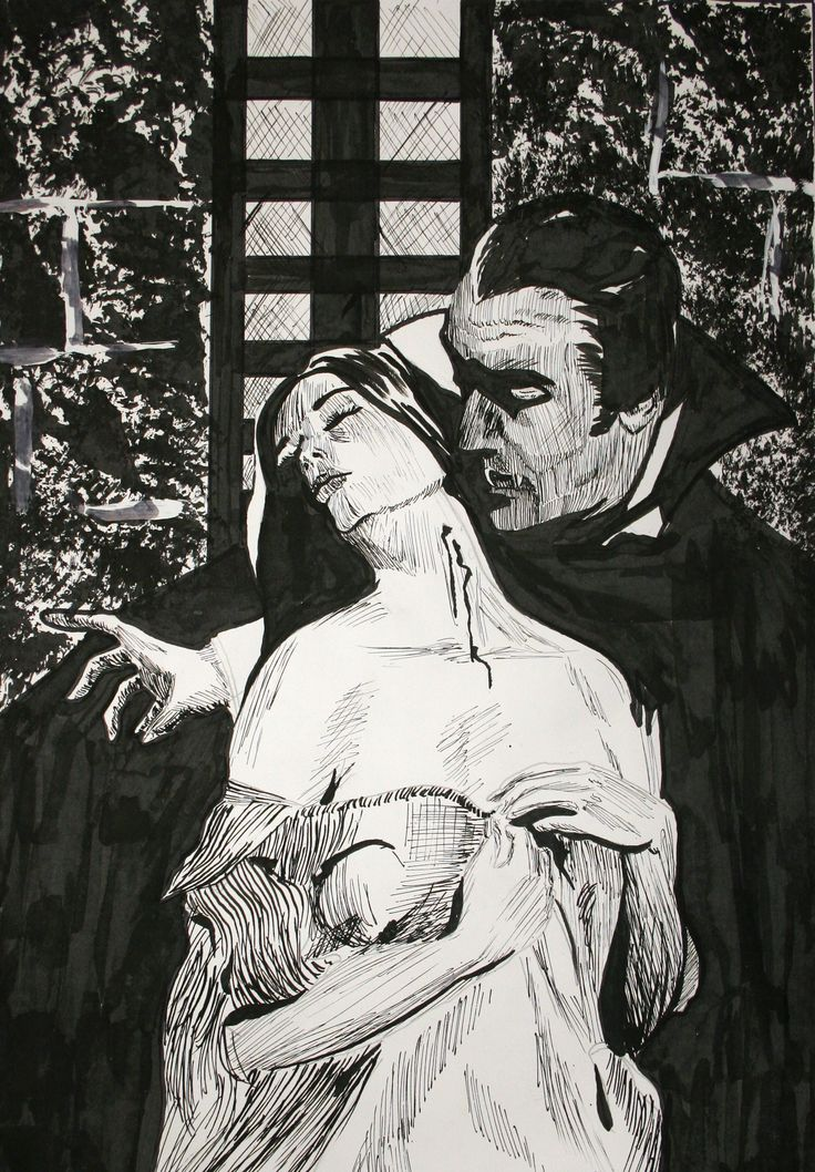 Christopher Lee Dracula. Pen & Ink 10 X 15