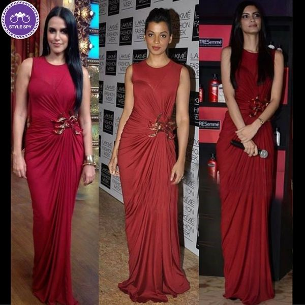 It's a tough call between these 3 ladies! Who do you think wore it best? Neha Dhupia, Mugdha Godse or Diana Penty. #whoworeitbetter #stylespy #bollywood  photo courtesy: mtv india