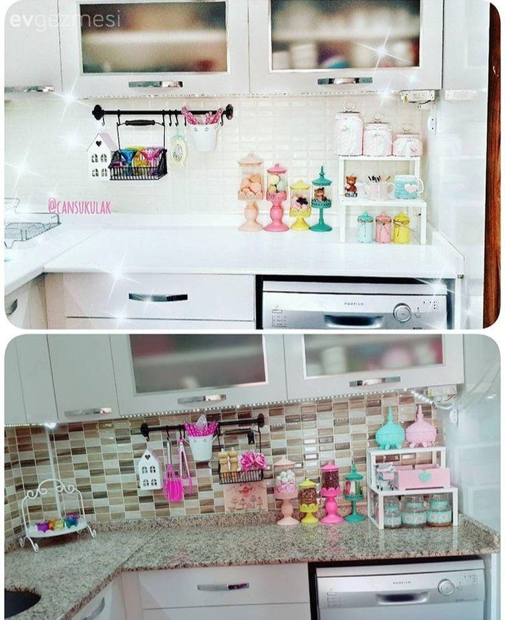 Mobilya boyama, Mutfak tadilat, Yapışkan folyo