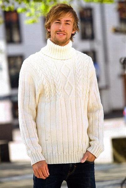 Связать мужской свитер из шерсти фото схемы