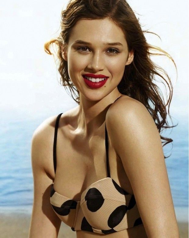 Snag her summer-perfect look! Va-voom! Beauty Anais Pouliot is quite the beach bombshell on the July cover of Elle Canada. We can't get enough of her retro red lips and neutral high-waisted bikini with oversized polka dots!  Keep scrolling to see the stunning photos, plus how to get her look... via @WhoWhatWear
