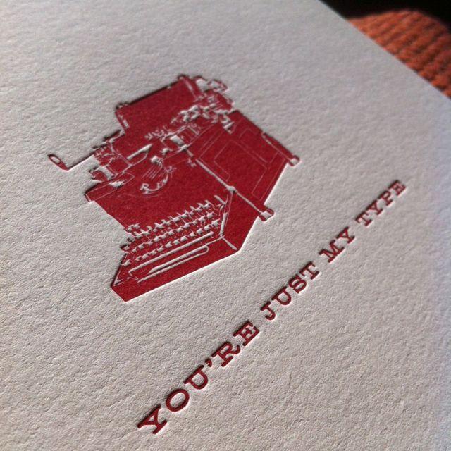Letterpress Valentines Day Card Letterpress Pinterest