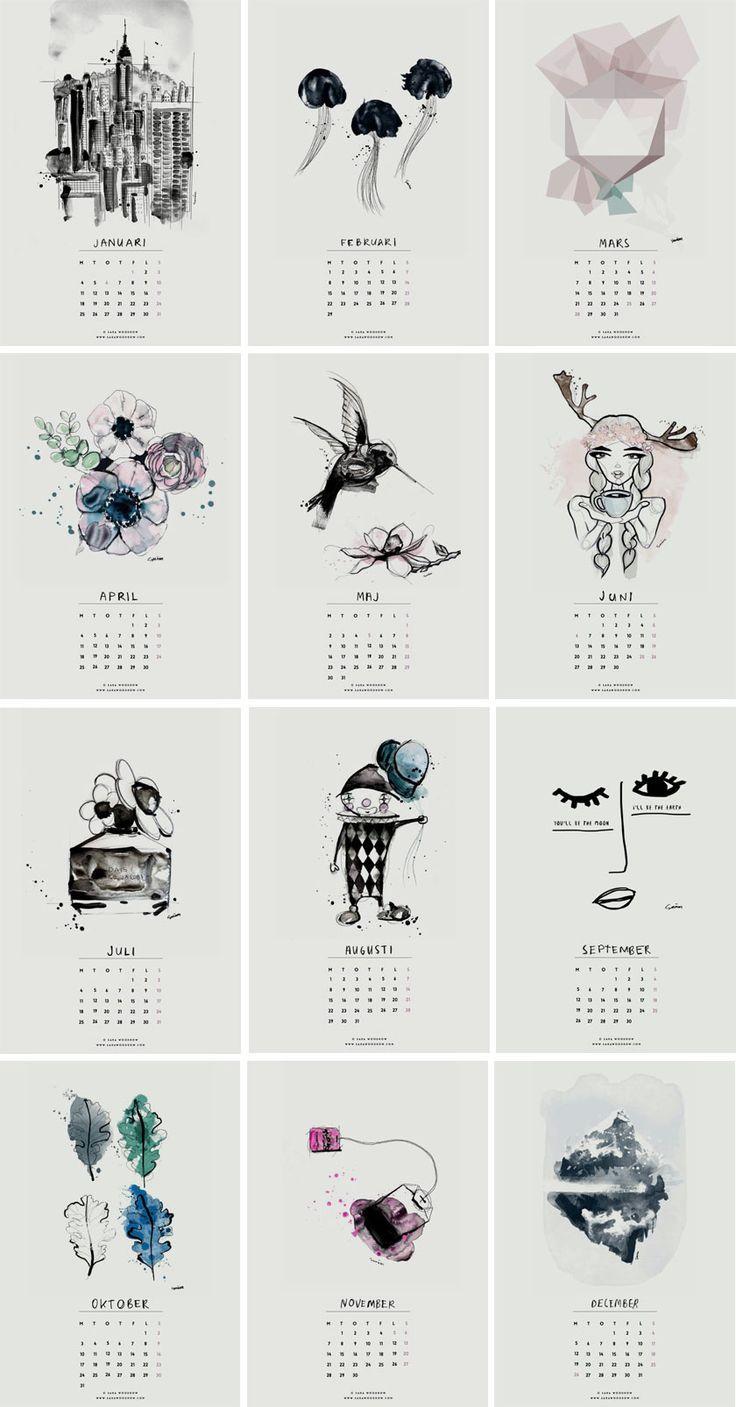 Sélection de calendriers 2016 design et graphiques