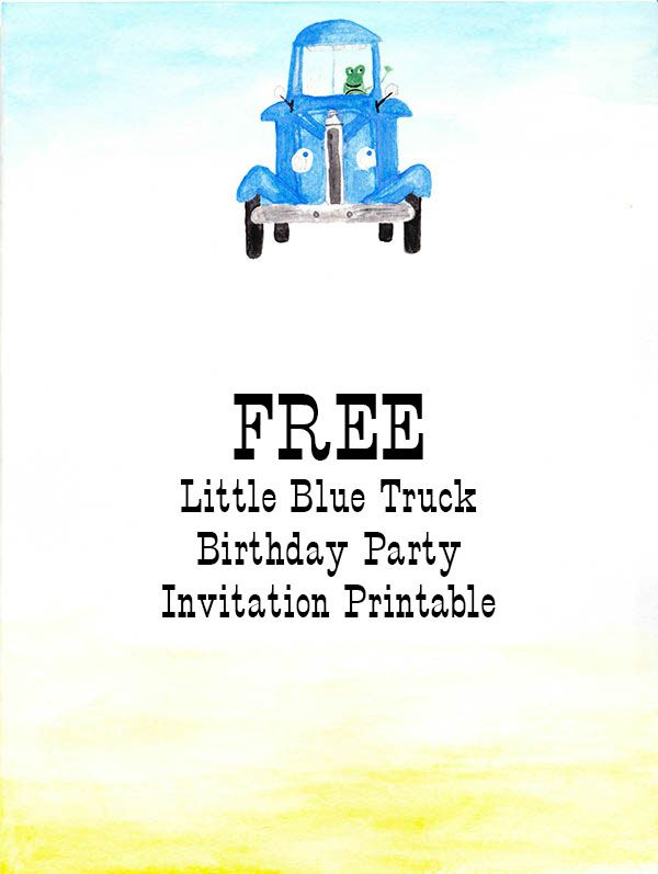 Little Blue Truck Birthday Invitation - Nearly Crafty