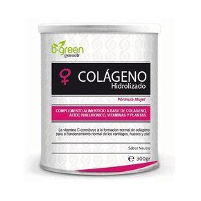 Colágeno Hidrolizado fórmula mujer de B-Green es un complemento alimenticio que contribuye a ralentizar la pérdida de colágeno asociada a la menopausia. http://www.parafarmaciaporinternet.com/colageno-hidrolizado-formula-mujer-b-green.html