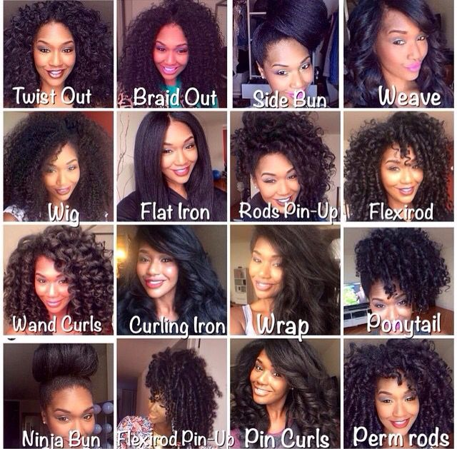 Apple Cider Vinegar and different natural hair styles.
