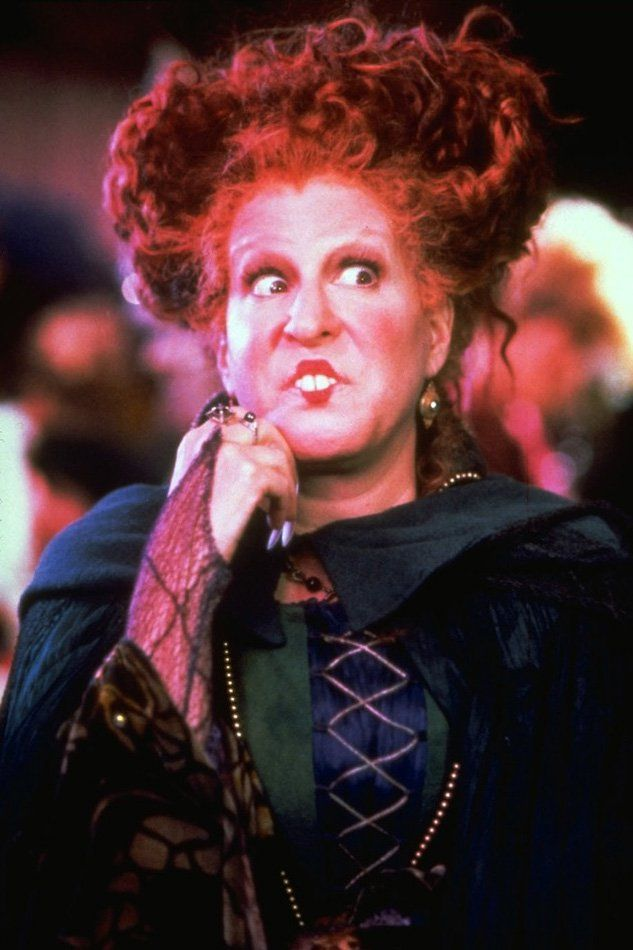 Pin for Later: The Cast of Hocus Pocus: Then and Now Winifred, played by Bette Midler